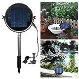 housesweet - 4 Cabezales de pulverización para Fuente de Agua, Bomba Sumergible, Panel Solar Giratorio 360 °