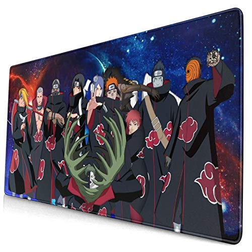 Large Gaming Mouse Pad Popular Japanese Anime Naruto Uzumaki Hot Manga Cool Anti Slip Mouse Mat Anti Slide Bottom Desk Mat Living-Room Desk Pad(29.5'X15.8'X0.12')