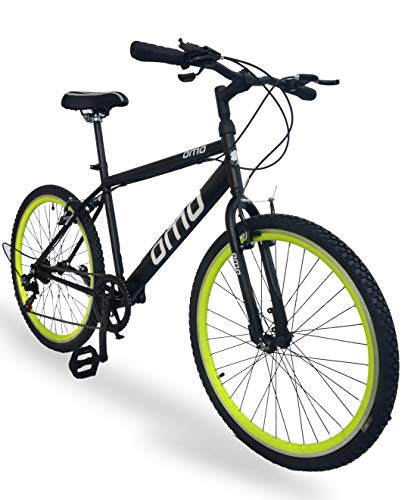 Omobikes Model 1.7 Light Speed 7 Speed Bicycle (Green Rims)