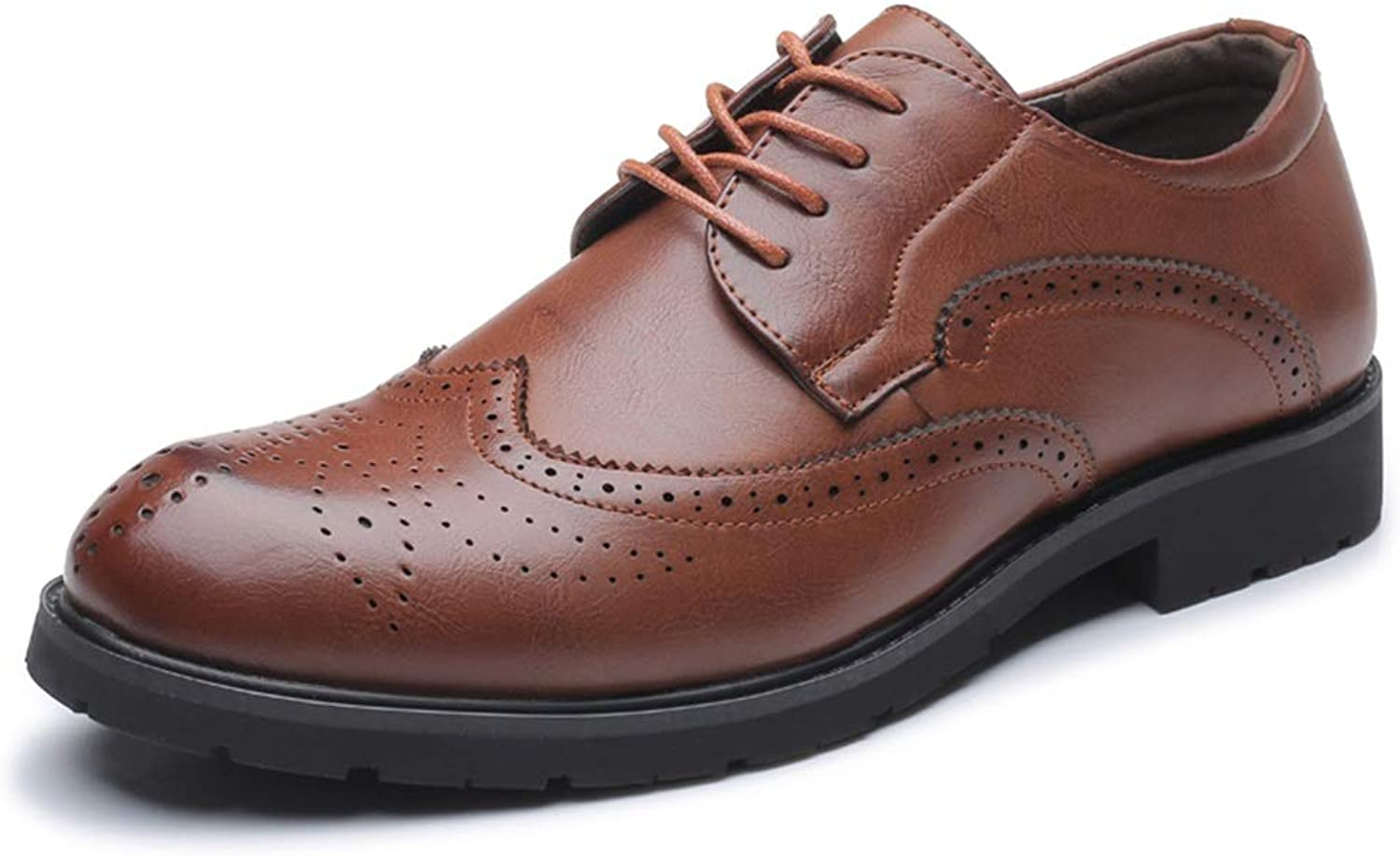 JIALUN-shoes Men's Fashion Oxford Casual Classic Comfortable Carving Lace Up Brogue Leisure shoes