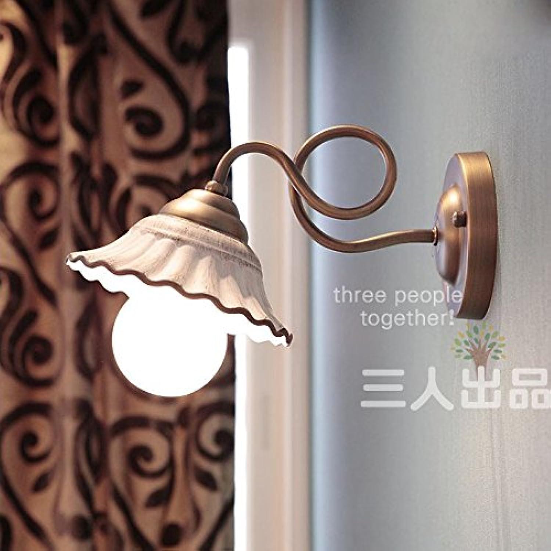 StiefelU LED Wandleuchte nach oben und unten Wandleuchten Idyllische koreanischen Stil Wohnzimmer Keramik antike Bett gang Hyun gateway Korridor, und neutral light Wandleuchte