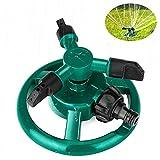 Rasensprenger, Coquimbo Garten Sprinkler Automatische Gartensprenger, 360 Grad 3-Arm Rotierende Wassersprenge zur Bewässerung von Rasen, Pflanzen, Blumen