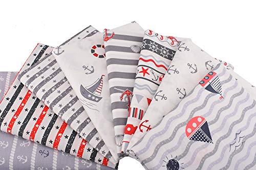 8 Marine Stoffe für Kissen, Kleider, Cos...