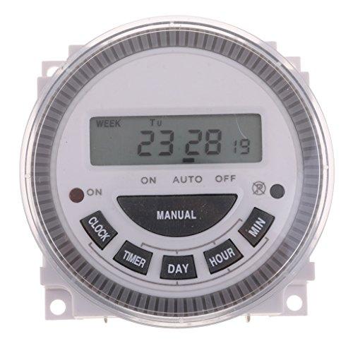harayaa Interruptor de LCD Digital de 220 V Programable Semanalmente