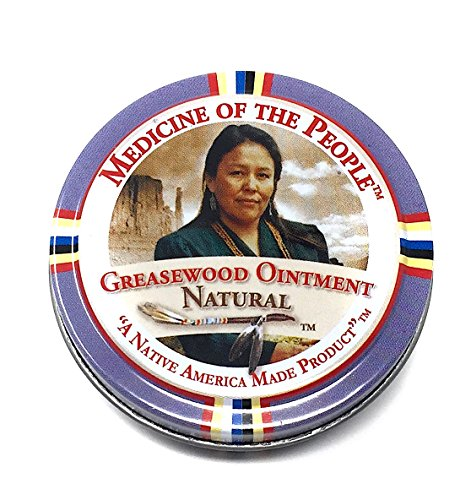 Greasewood Ointment Salve for Various Skin Conditions Eczema Psoriasis Athlete's Foot by Medicine of The People 0.75 oz (Pack of 3 Tins)