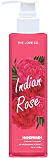 THE LOVE CO. Indian Rose Anti Bacterial Natural Hand Wash with Tulsi, Neem Extracts - 200ml