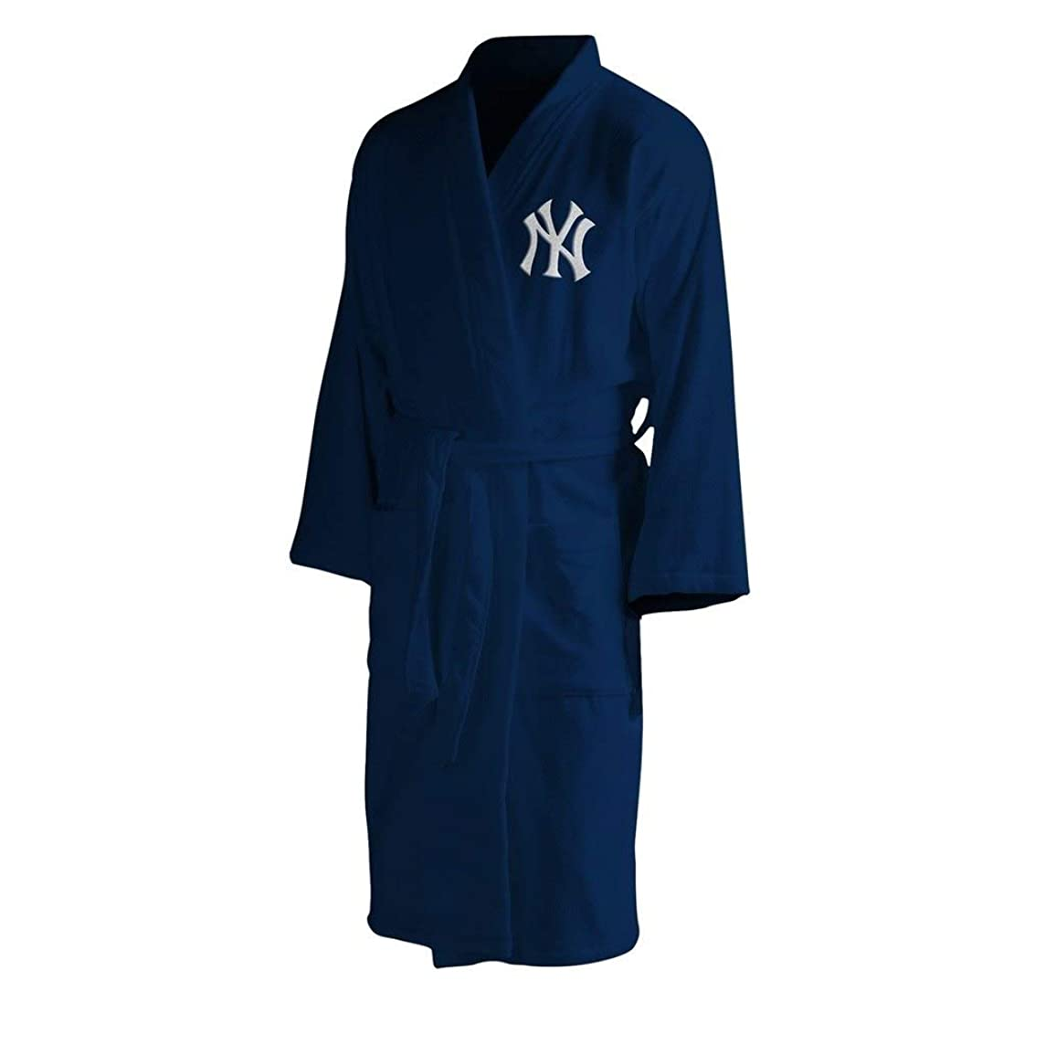 The Northwest Company MLB New York Yankees Men's Bathrobe, One Size, Multicolor