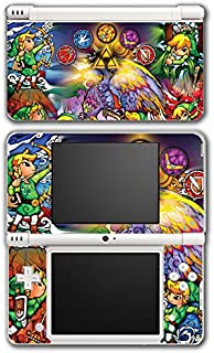 Legend of Zelda Link Wind Waker Stained Glass Video Game Vinyl Decal Skin Sticker Cover for Nintendo DSi XL System