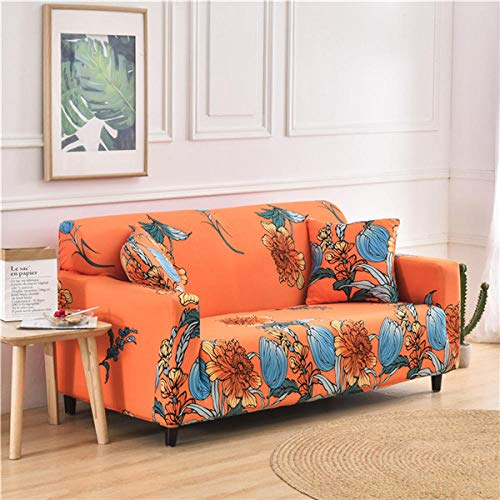 KOLIU Funda de sofá elástica geométrica para Sala de Estar, Fundas de sofá universales, sofá elástico Sofá de Dos plazas Chaise Longue, Funda de sillón-Color 11_1 Asiento 90-140cm