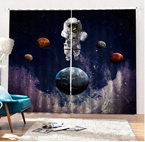 MUXIAND sterrenhemel gordijnen verduistering 3D woonkamer gordijnen slaapkamer gordijnen op maat gordijnen blauwe grootte verduistering