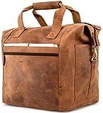 LEABAGS Santa Cruz Reisetasche aus echtem Büffel-Leder im Vintage Look - Braun