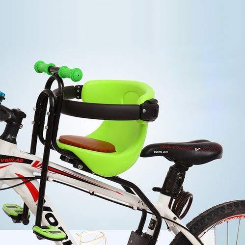 INHDBOX Kindersitz, Fahrrad-Vordersitz Kindersitz, Abnehmbarer Fahrradsitz Vordersitz Kind mit Pedal Griff für Herrenfahrrädern und Damenrädern (FD702 Grün)
