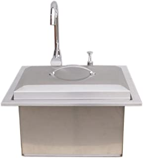 Sunstone Drop in Sink with Hot and Cold Water Faucet and Cutting Board