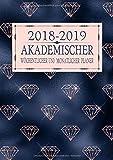 2018-2019 Akademischer Wöchentlicher und Monatlicher Planer: Roségold Diamant Terminkalender Organizer, Studienplaner Und Agenda Zum Universität, ... College (2018 2019 Kalendar Rosegold, Band 3)