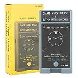 DAUERHAFT Probador de batería de Reloj portátil de plástico Ligero, Herramienta de reparación de Relojes, 2 Pilas de 1,5 V, para relojeros y Trabajadores de reparación de Relojes