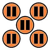 Imanes con un Símbolo de Pausa - Juego de 5 imanes - Diámetro 5 cm - para Pizarras Blancas y Refrigeradores