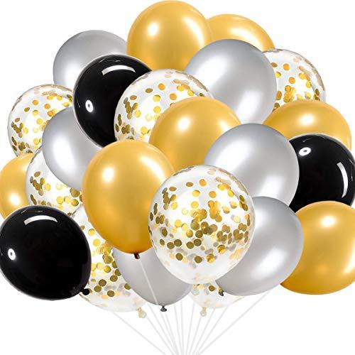 Gold Confetti Balloons Set(55 Pcs), 12