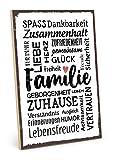 TypeStoff Holzschild mit Spruch – Familie – im