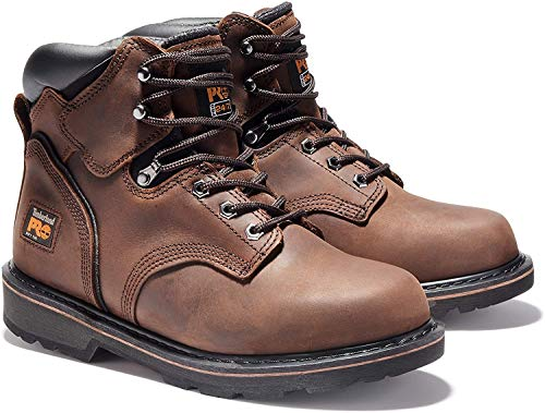 "Timberland PRO Men's Pitboss 6"" Steel-Toe Boot, Brown , 12 D - Medium"