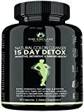 COLON CLEANSER DETOX FOR WEIGHT LOSS. 15 Day Fast-Acting Detox Cleanse, Extra-Strength Natural Laxatives, Probiotic, Fiber: Constipation Relief, Reduce Bloating, Toxins, Boost Energy, Focus & Immunity