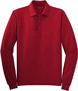 Mens Long Sleeve Polo Shirts in 10 Colors. Regular and Tall Sizes: XS-6XL