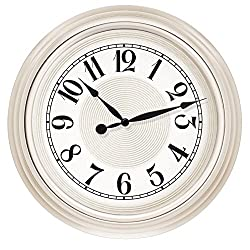Westclox 32939 15.5 in. White Embossed Detail Dial Wall Clock