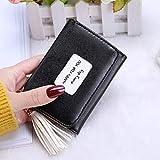 Persdico Cartera de mujer de moda de estilo coreano, monedero corto de cuero PU, cartera plegable multifunción, tarjetero, bolso, Notecase