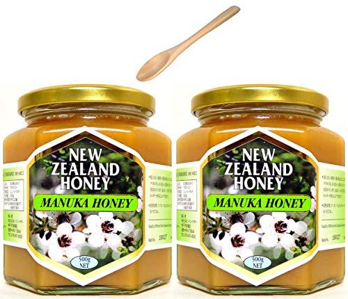 ハニーマザー マヌカハニー 500g ×2個 非加熱・100%純粋天然はちみつ ニュージーランド産 スプーンセット