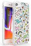 Carino Modello Impact Cover per iPhone 6 TPU Protettivo Phone Leggero con Fiaba Tendenza Patatine Fritte Dinosauro Ciambella