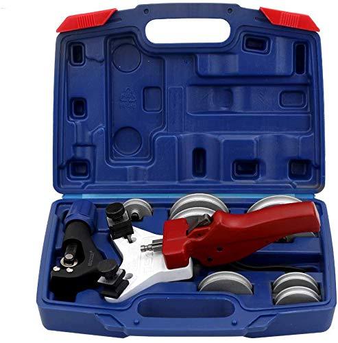 Schläuche Rohrbiegemaschine, Hand Composite-Rohrbiegemaschine, Kupferrohrschlauch Bender Manueller Rohrbiegewerkzeugsatz mit 90-Indikatoren für Klimaanlage Kälte