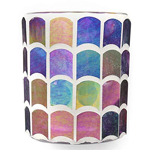 HDBN Porta VelaCandelero De Cristal Candelero De Lámpara De Mesa De Luz De Té Marroquí VotivoFiesta En Casa (Size:75mm X 85mm; Color:B)