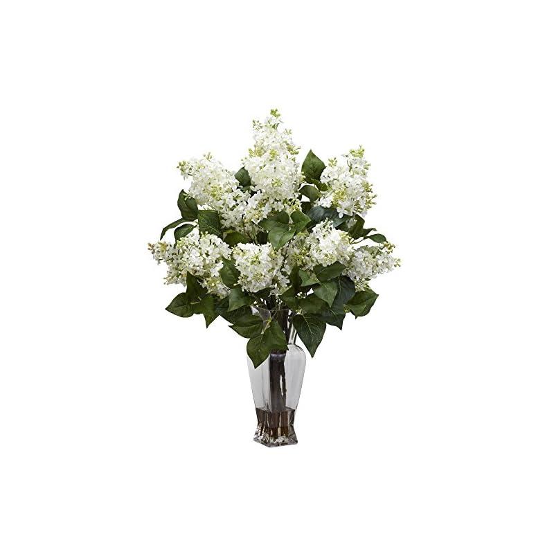 silk flower arrangements nearly natural lilac silk flower arrangement, white