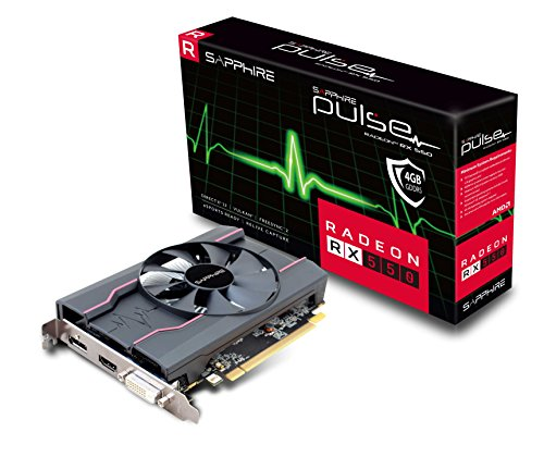 Sapphire Pulse Radeon RX 550 Scheda Video, 4 GB, 1206 MHz Boost Engine Clock, Grigio