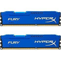 Kingston HyperX Fury Series Kit Memorie DDR-III da 16 GB, 2x8 GB, PC 1866, Blu
