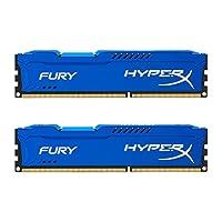 キングストン Kingston デスクトップ オーバークロックPC用メモリ DDR3-1866 (PC3-15000) 8GBx2枚 HyperX FURY CL10 1.5V Non-ECC DIMM 240pin HX318C10FK2/16 永久保証