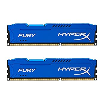 Kingston HyperX Fury 16GB Kit  2x8GB  1866MHz DDR3 CL10 DIMM - Blue  HX318C10FK2/16   Pack of 2