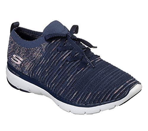 Skechers Flex Appeal 3.0 - Zapatillas de Deporte para Mujer, Talla M, Color Azul Marino, Azul (Marino), 40 EU