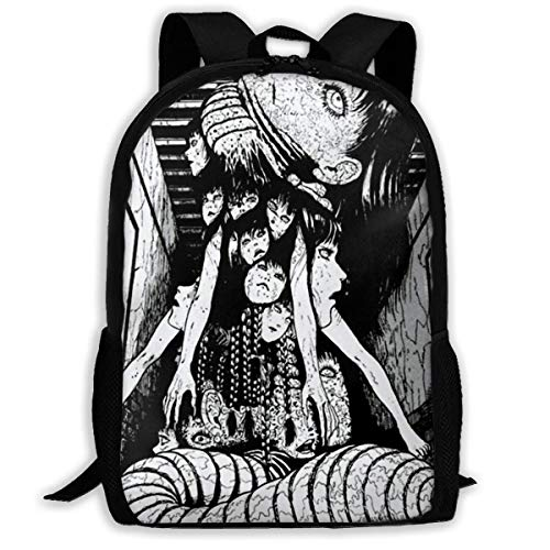 XCNGG Junji Ito Collection Classic School Bag Teenager Casual Sports Backpack Men Women Student Travel Hiking Laptop Backpack