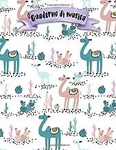 Quaderno di musica: A4 -108 pagine - 12 pentagrammi per pagina - Unicorno (Italian Edition)