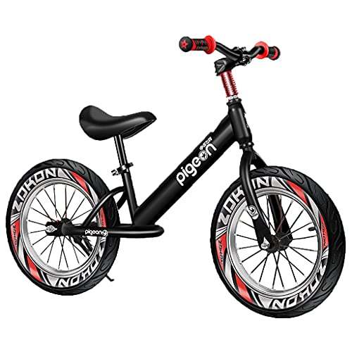 Bicicleta Sin Pedales Ninguna Pedal Balance Bike Niños Entrenamiento Bicicleta, 3-8 años Niños Chicas Chicas Deportes al aire libre, Negro / Rojo / Azul Bicicleta de equilibrio Bicicleta de aluminio l