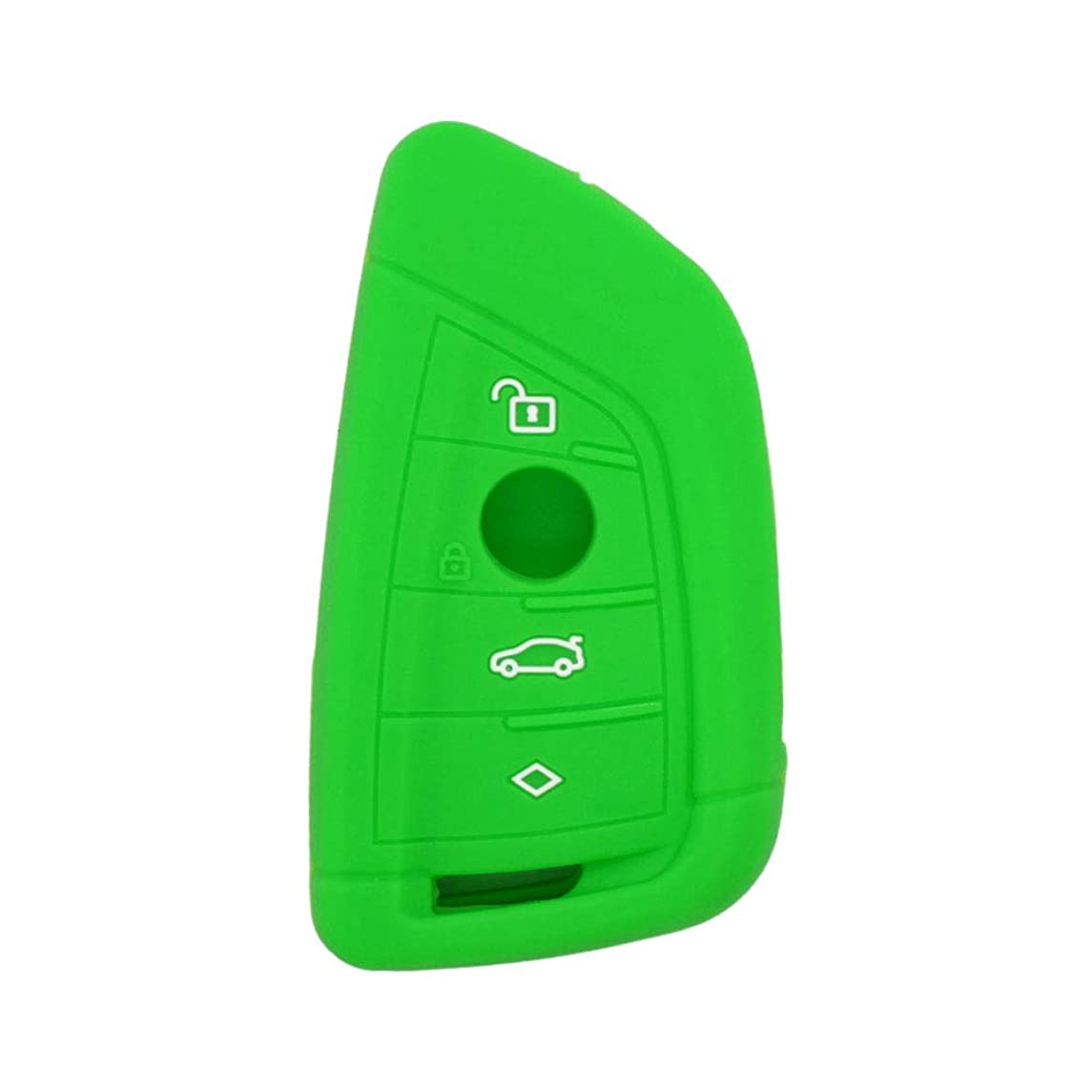 SEGADEN Silicone Cover Protector Case Skin Jacket fit for BMW X1 X3 X4 X5 X6 4 Button Smart Remote Key Fob CV4907 Light Green