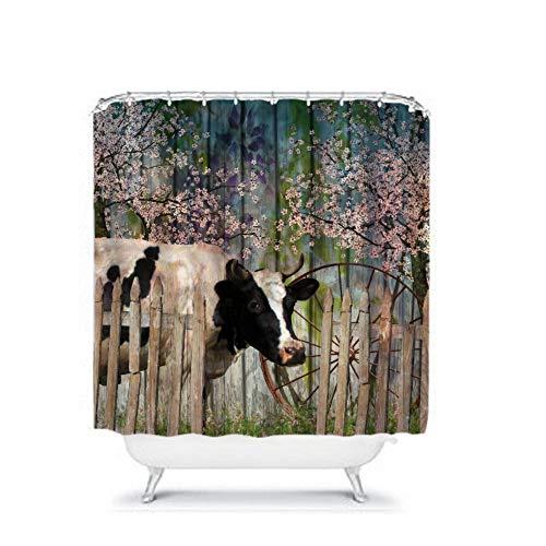 Ad4ssdu4 Duschvorhang, Kuh-Design, Primitive Bauernhof-Dekoration