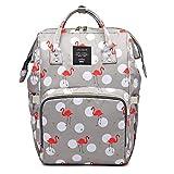 Koochie-Koo Diaper Bag Backpack for Mom Dad,Travel Rucksack Casual Daypack Maternity Nappy Bag