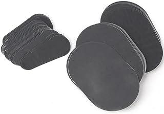 Juego de 80 almohadillas exfoliantes para depilación de pelo lisas piernas de la piel del brazo de la cara removedor de pelo lejos