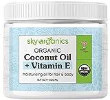 USDA Organic Coconut Oil with Vitamin E (16.9 oz Jar)...
