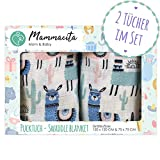 Baby Pucktuch 2er Set - Swaddle Blanket aus 100% zertifizierter