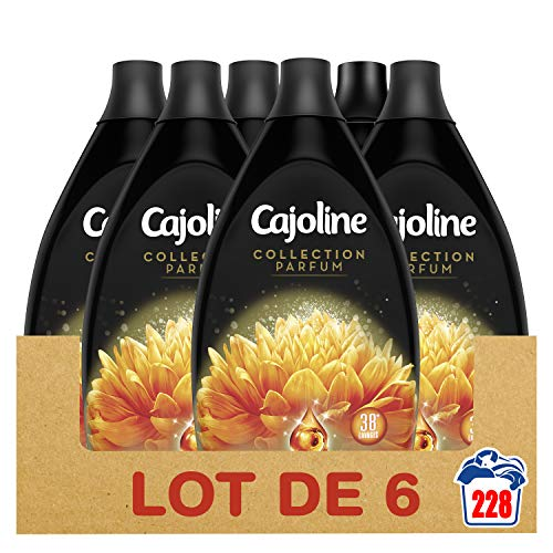 Cajoline Assouplissant Concentré Nectar Divin x228, Parfums Sophistiqués, Protège les fibres et les couleurs, Adoucissant linge 228 Lavages (lot de 6x38)