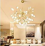 KALRI Modern Sputnik Firefly Chandelier Pendant Lighting Fixture Ceiling Light G4 Light (39.4'X31.5''- 63Heads)