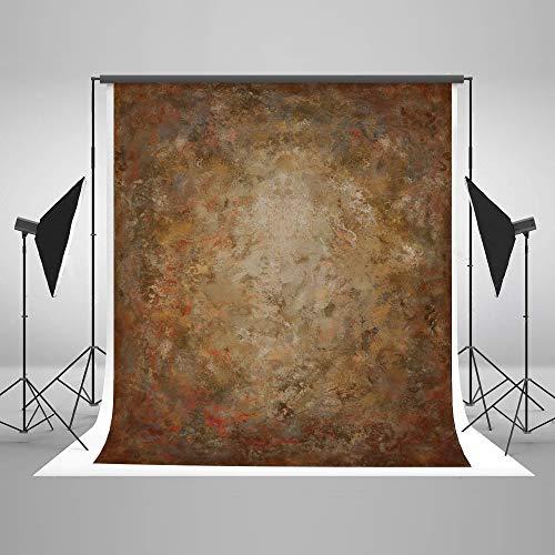 KateHome PHOTOSTUDIOS 1,5x2,2m(5x7ft) Brauner Abstrakter Hintergrund Ölgemälde abstrakte Fotografie Hintergrund Professionelle Fotografie Studio Requisiten