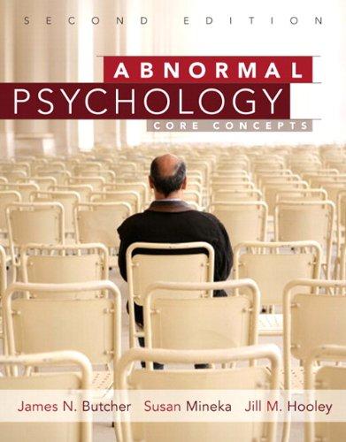 Abnormal Psychology by Butcher, James N./ Mineka, Susan/ Hooley, Jill M.